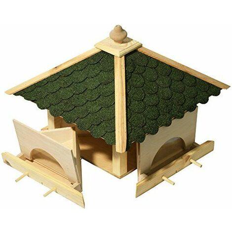 Luxus-Vogelhaus 98700e Cabane à oiseaux à 4 tiroirs mangeoires séparées et 8 barreaux d\'envol