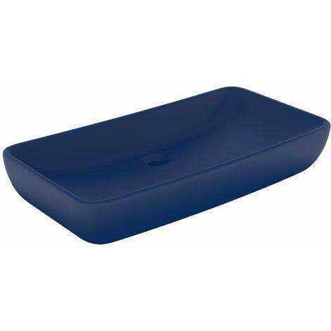 Luxus-Waschbecken Rechteckig Matt Dunkelblau 71x38 cm Keramik