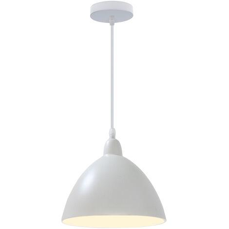 Luz Colgante-Colgante de Luz Moderna, Lámpara de Techo Retro Vintage, Luz de Techo Blanco de Estilo Nórdico para Cocina, Comedor (Sin Bombilla)