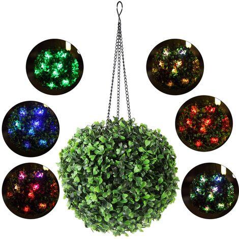 Luz colgante para exteriores - Linternas solares para colgar luces al aire libre Luces solares impermeables para jardín para patio, patio, porche, balcón, regalo - 8 pulgadas - Colorido