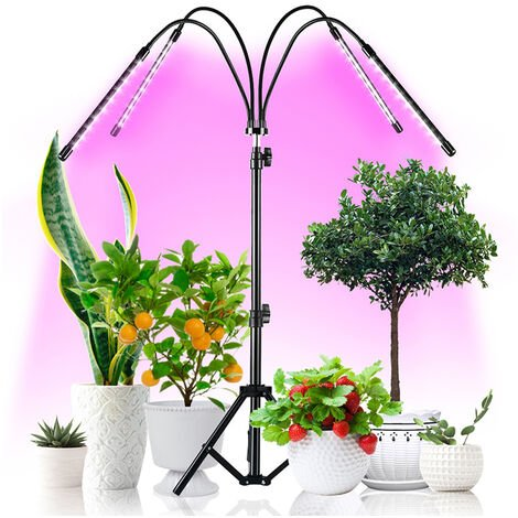 Luz creciente con el soporte de la planta crece las lamparas para plantas de interior de soporte del tripode ajustable Modo Espectro 4 con Tiempos 3/6 / 12H