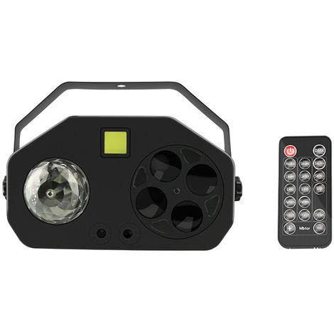 Luz de bola magica laser 4 en 1, luz colorida de decoracion navidena controlada por voz
