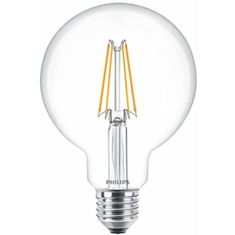 Luz de bulbo del Globo de filamento LED de Philips 8W E27 2700K PHILEDGL12060D