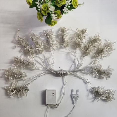 Luz de cadena LED para cortina de ventana, blanco calido, 6.6 pies x 9.8 pies
