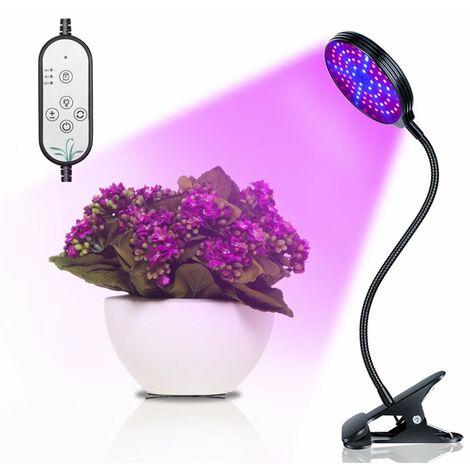 Luz de crecimiento de plantas con clip USB, luz de crecimiento de plantas