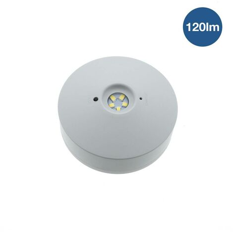 Luz de emergencia LED de superficie 3W 120LM 3h IP20