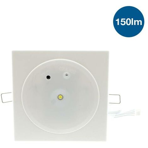 Luz de emergencia LED downlight empotrable 150lm 3W 3 horas IP42