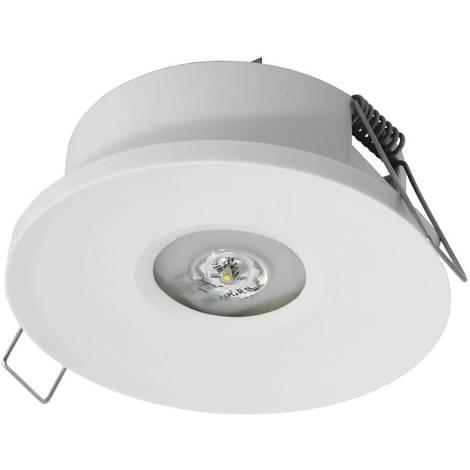 Luz de emergencia LED empotrable AXP 120lm IP20