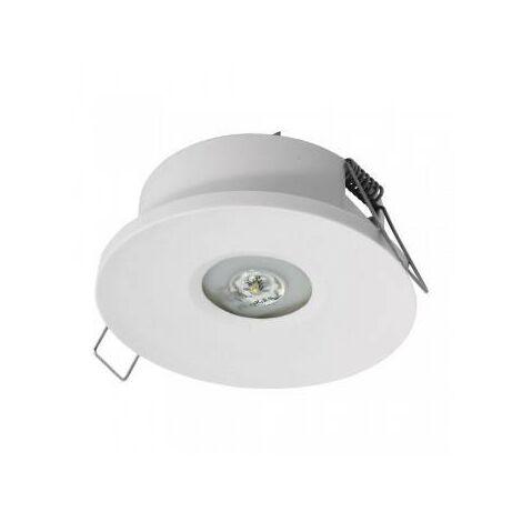 Luz de emergencia LED empotrada AXP 120lm IP20