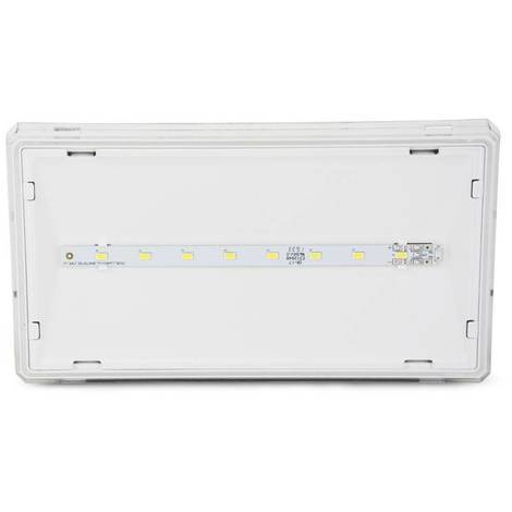 Luz de emergencia LED EXIT S 150 lumens IP42 Permanente