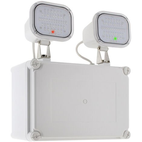 Luz de emergencia LED KROLUX AUTO-TEST, Estanca IP65, Industrial, Blanco frío