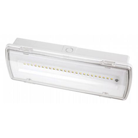 Luz De Emergencia Permanente 5w 4000k Estanca Kenobi 400 lm Ip65 27x10x5,4 Bateria 3 H