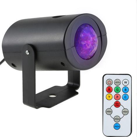 Luz de escenario LED de efecto de onda de agua RGBW de 9W, con control remoto IR