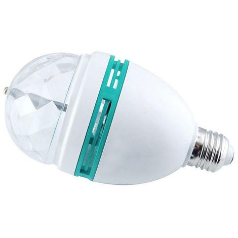 Luz de escenario LED giratoria RGB de 1 pieza, lampara de bola magica, 3W E27