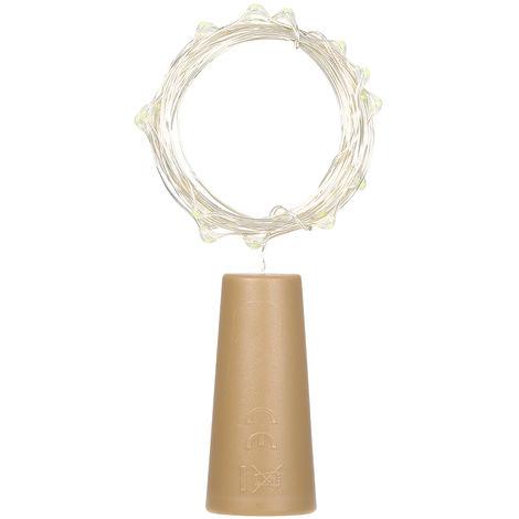 Luz de hadas de alambre de cobre, decoraciones navidenas,4.5V 1.2W 2M 20 LED,Blanco