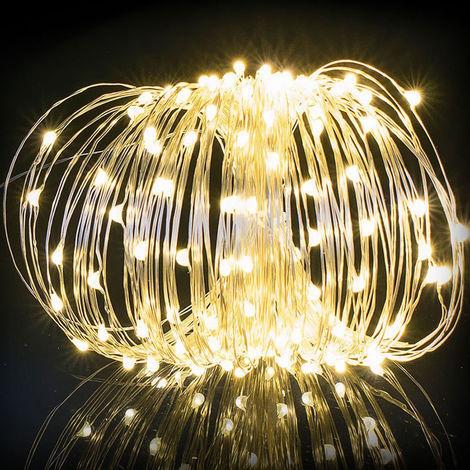 Luz de hadas para exteriores, luces nocturnas opcionales multimodales,Blanco calido
