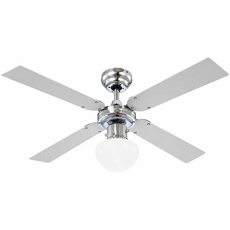 Luz de la lámpara del ventilador de techo LED, incluida la iluminación del interruptor de extracción Ventilador del radiador de 3 etapas