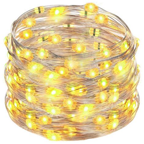 Luz de Navidad luces LED USB Plug en cadena luces 16 millones de colores que cambian de alambre de cobre de la luciernaga con las luces de control de marcacion, multicolor, 5m 50 luces