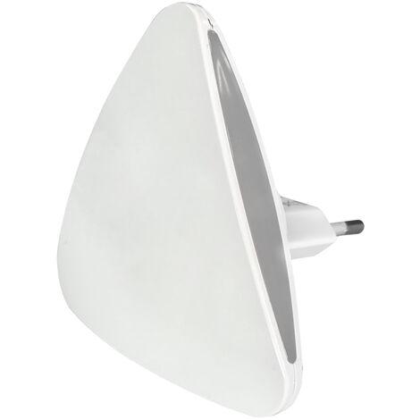 Luz de noche Led triangular con sensor crepuscular (F-Bright 1101481) (Blíster)