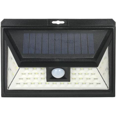 Luz de pared con sensor de movimiento PIR de energia solar, 44 LED