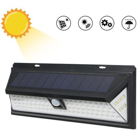 Luz de pared con sensor de movimiento PIR de energia solar, 90 LED