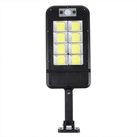 Luz de pared solar LED de 1200W Encienda la lámpara de jardín teledirigida impermeable