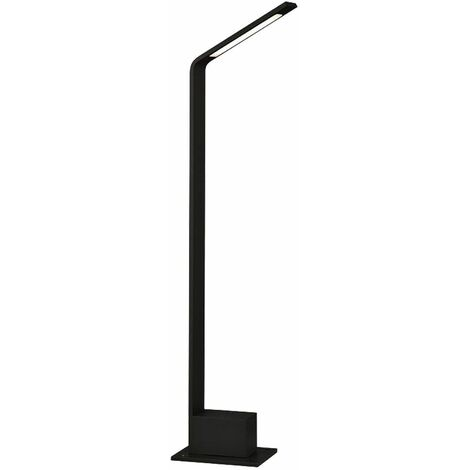 Luz de pie LED para exteriores ALU negro jardín camino parque soporte foco lámpara de base iluminación de terraza V-Tac 8682