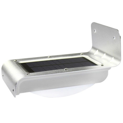 Luz de sensor de movimiento al aire libre, 16 LED, lampara impermeable solar