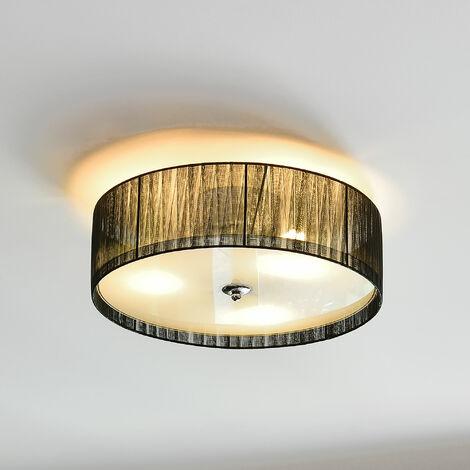 Luz de techo - Iluminación colgante - negro/blanco (3 x E27) - Lámpara de Plafón