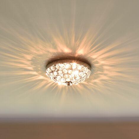 luz de techo - Lámpara de techo colgante - Cristales de Arte centelleantes (3 x G9) - cromo Ø 30 cm