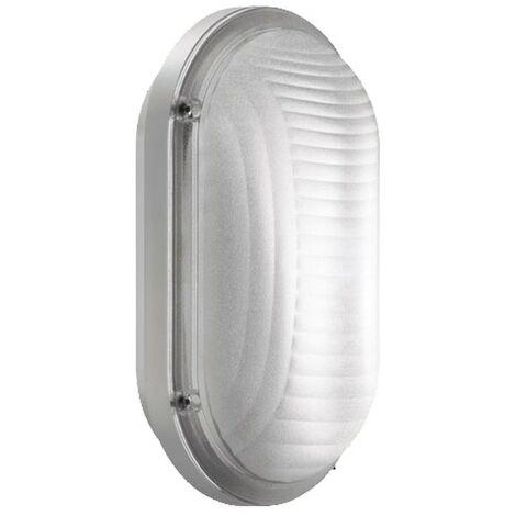 Luz de techo Lombardo oval E27 blanco LB53421