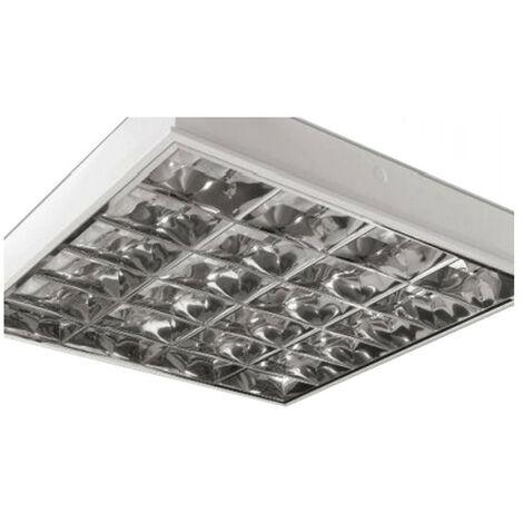 Luz de techo ras reflejado Beghelli 4X18W ahorrar espacio 18040