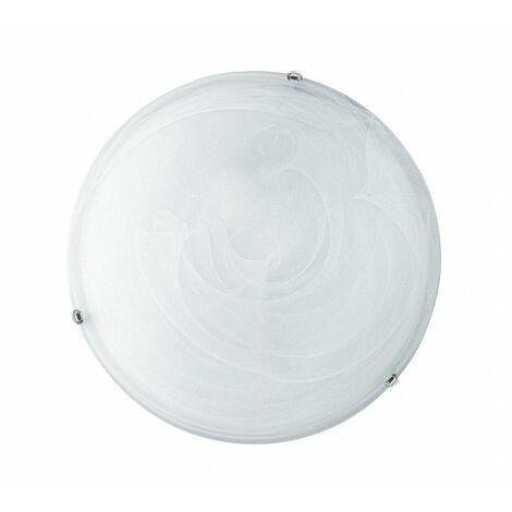 Luz de techo redonda del Ventilador Europa LUNA 12W D. 30 Blanco de LA LUNA/PL30