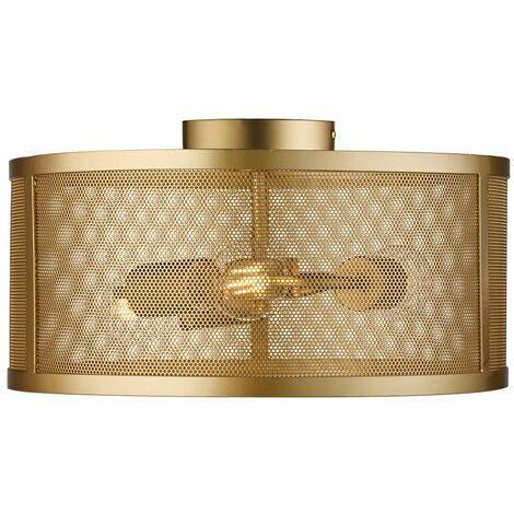 Luz de techo retro sueño habitación huéspedes jaula red diseño lámpara oro -light Searchlight 2843 -3GO
