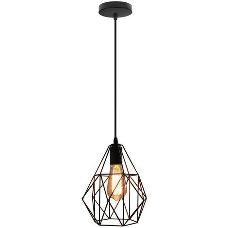 Luz de Techo Vintage de Diamantes Araña Clásica Creativa Araña Industrial para Cafe Bar Negro E27