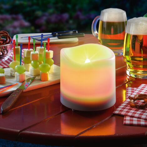 Luz de vela LED solar de mesa con efector parpadeante, esotec 102079