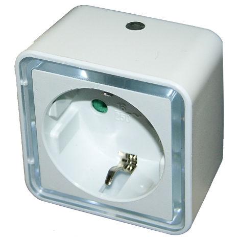 luz de vigilia led con toma y sensor dia / noche
