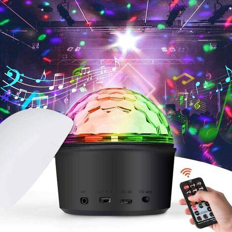 Luz del Disco, Luces Discoteca Fiesta Escenario Mágica Luces de etapa Luz de bola mágica de cristal LED Lámpara Noche Luz Bluetooth USB MP3 Etapa iluminación Lámparas de Disco para Fiestas