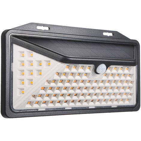 Luz del sensor de movimiento de la lampara solar, luces de jardin, 102 LED,Blanco calido