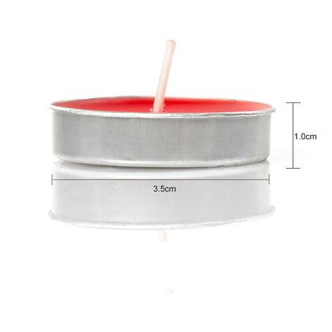Luz del te Velas sin aroma 50 Paquete de Tealight Velas amor romantico de velas a granel, para la decoracion casera, azul