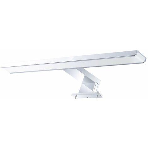 Luz delantera con espejo LED AC110-240V, lampara de espejo LED de bano moderno impermeable de aluminio cromado de 10W