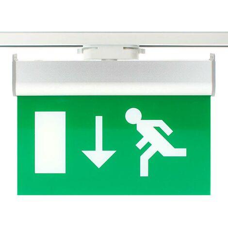 Luz Emergencia permanente para Carril Monofásico Emergency RAIL EXIT, Verde - Verde