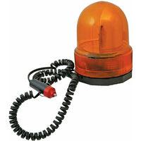 luz giratoria emergencia color ambar base magnetica resistente 12v