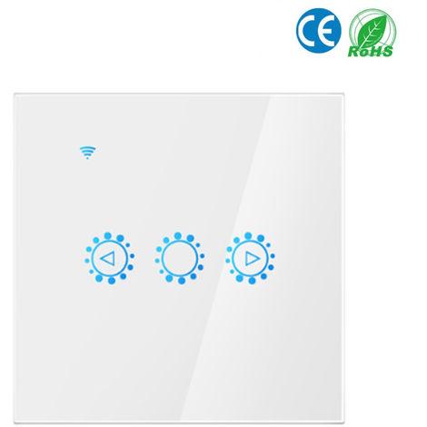 Luz inteligente Conmutador de la luz, de 3 vias pared Wifi interruptor de la lampara tocado, blanco