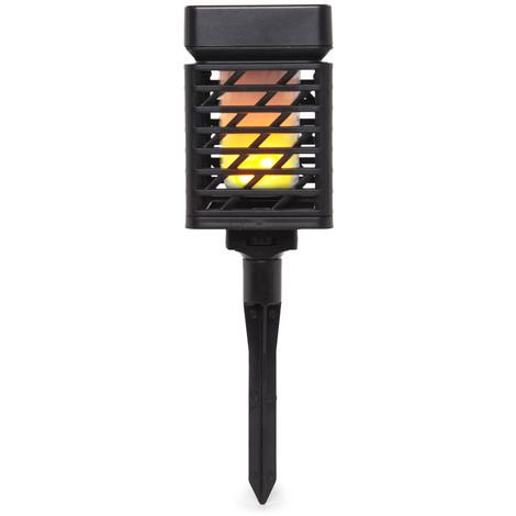 Luz Jardín LED Solar IP65 Sensor Luz USB | Blanco Cálido (PL-626032-WW)