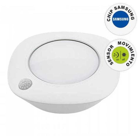 Luz LED Armario circular 4000K 1.5W IP20 con sensor de movimiento y chip Samsung PRO