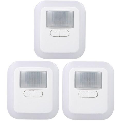 Luz LED con sensor de movimiento enchufable, lampara de pared nocturna, AC110-240V