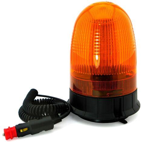 Luz LED giratoria de advertencia con base magnética
