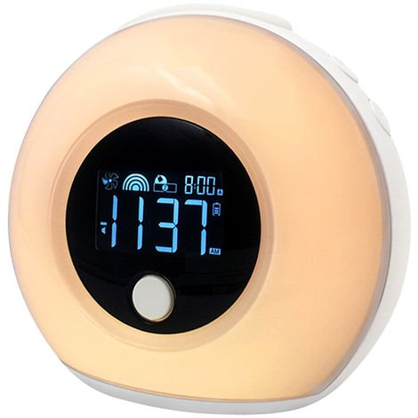 Luz LED inteligente tactil Altavoz USB Luz nocturna, blanco