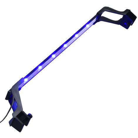 Luz LED para acuario con abrazaderas azul y blanco 55-70 cm